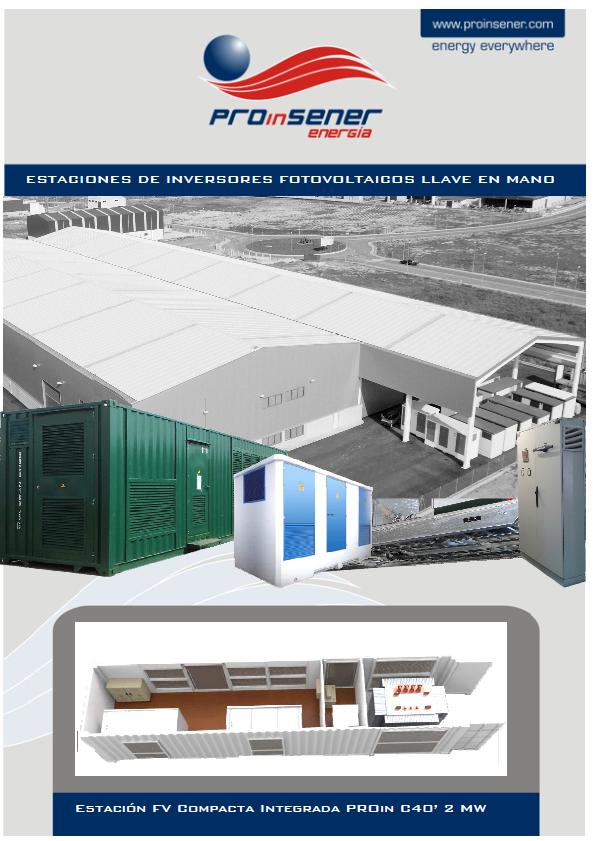 Estación FV Compacta Integrada PROin C40' 2 MW