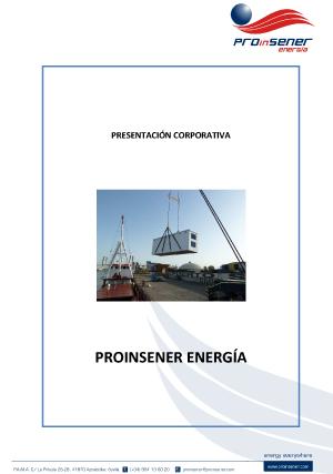 Presentación corporativa de PROinSENER Energía